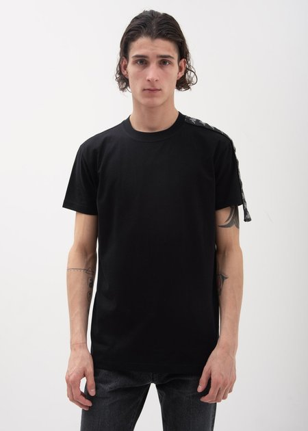 Kappa Kontroll One Sleeve Banda T-Shirt - Black