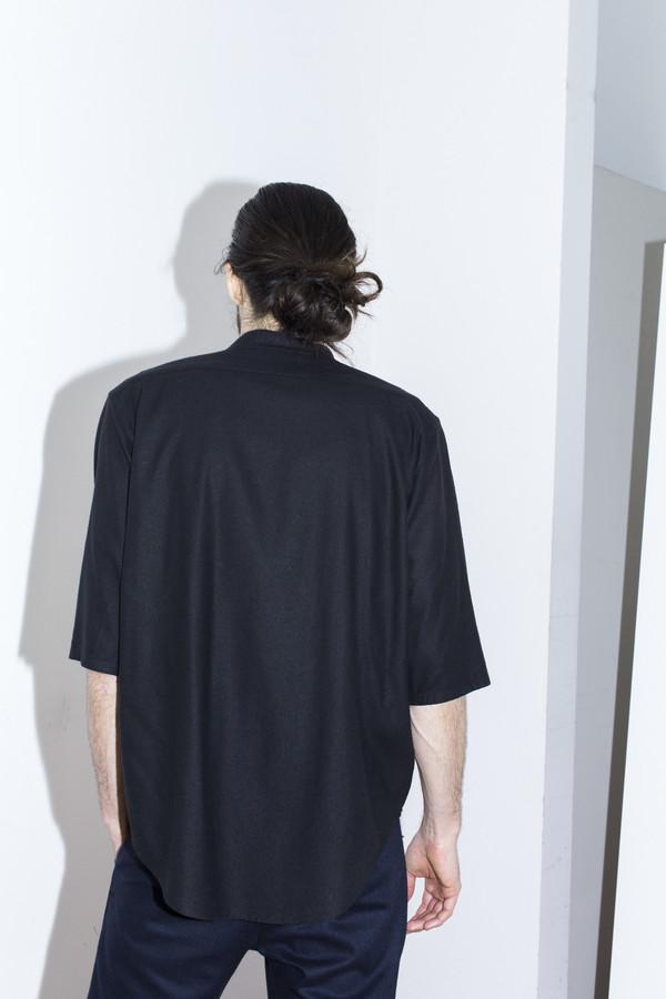 Men's Assembly New York Raw Silk No Collar Shirt