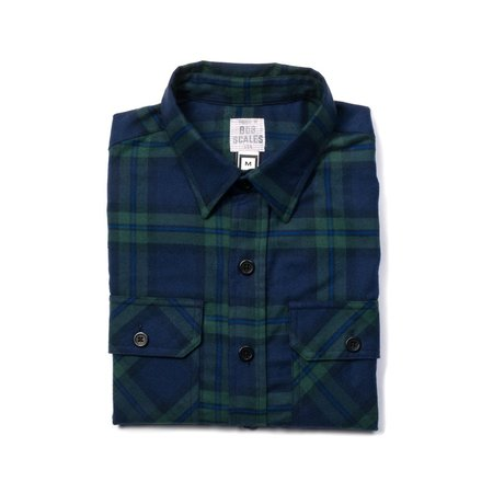 Product Of Bob Scales Work Shirt - Green/Navy