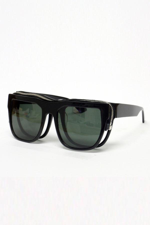 Men's Percy Lau Black Acetate Sunglasses