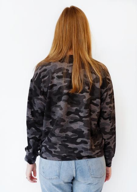 Sundry Camo Sweatshirt - Charcoal