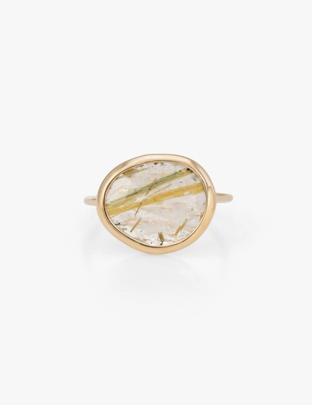 Kathryn Bentley Rutile Quartz Slice Ring