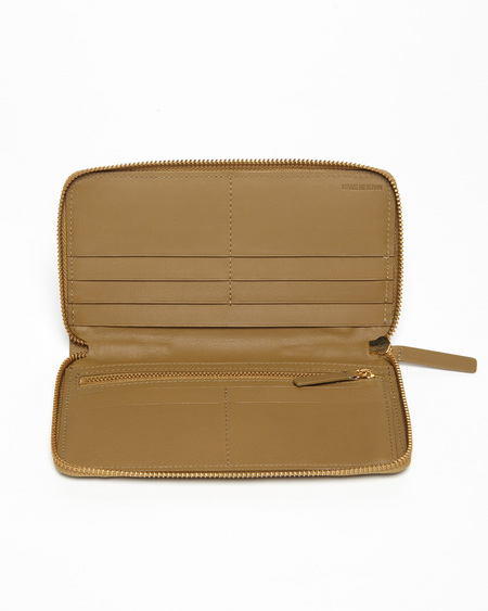 The Stowe Nappa Zip Wallet - Olive