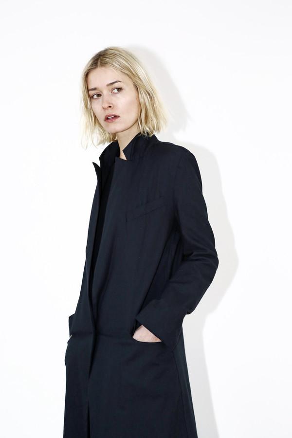 Black Long Collar Coat