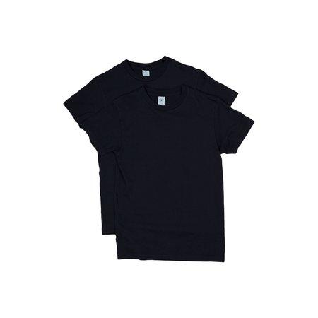 Velva Sheen 2 Pack Crewneck Plain Tee - Navy Blue