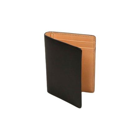 Il Bussetto Bi-Fold Card Case - Black