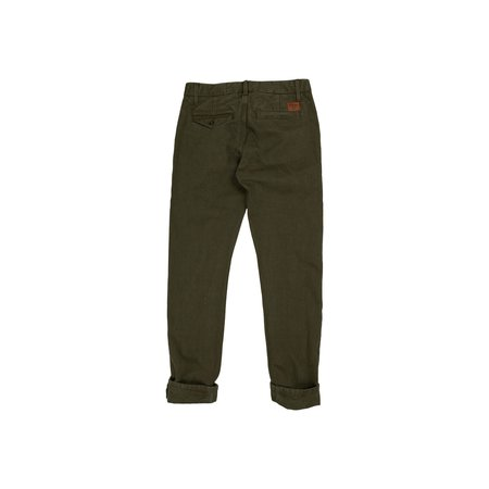 Freenote Cloth Workers Chino Slim Straight - Army Green
