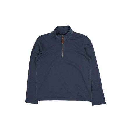 Albam Zipped Jersey Pullover - Indigo