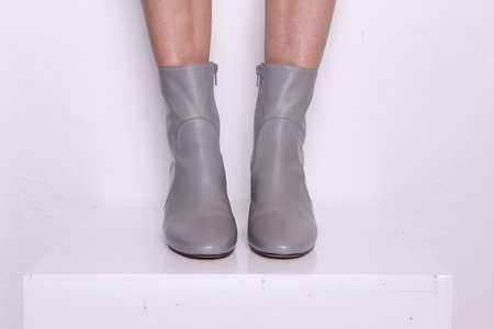 """""""INTENTIONALLY __________."""" Luck Leather Boots - Grey"""