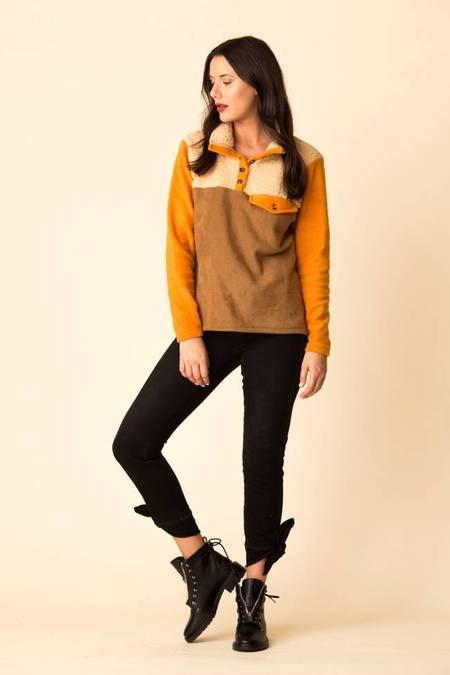 Donni Tri Fleece Sherpa Pullover
