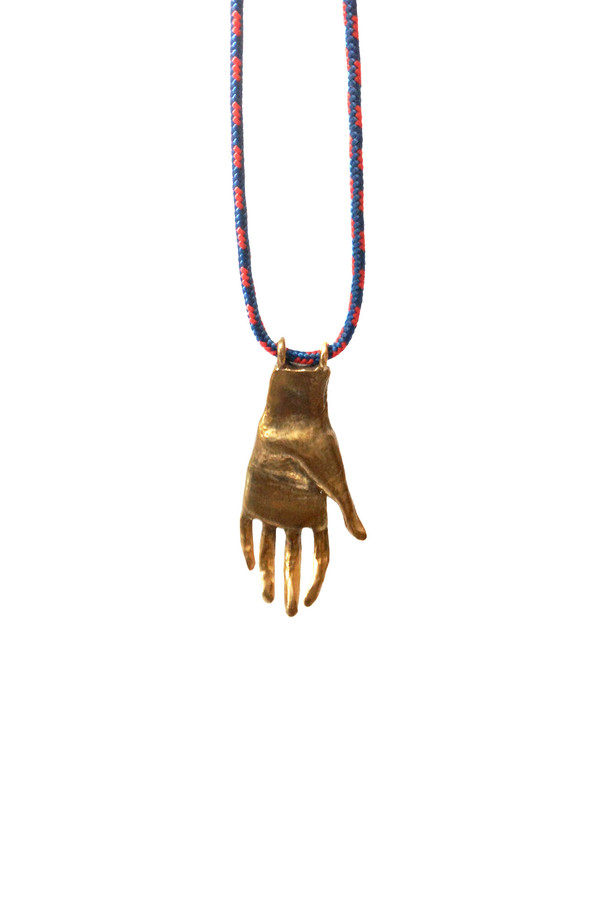 Open House Bronze Hand Necklace