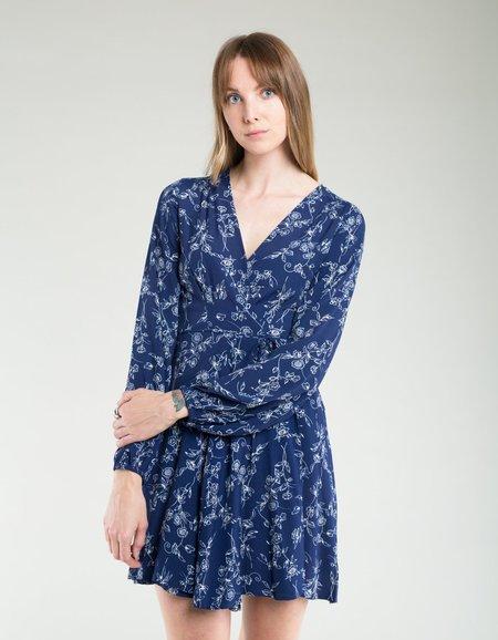 Rollas Lily Dahlia Wrap Dress - Navy
