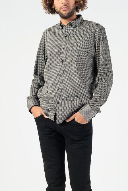 WRK Interlaced Print Reworked Long Sleeve Shirt