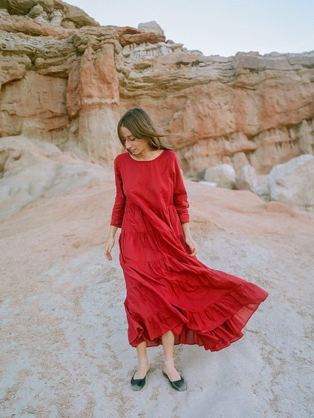 Ajaie Alaie SHE'S A SOLOIST IN LOVE Dress - GARNET RED