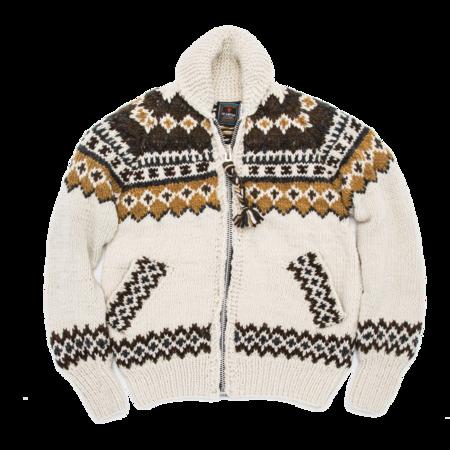 Unisex Chamula Fair Isle #3 Zipper Cardigan - Ivory