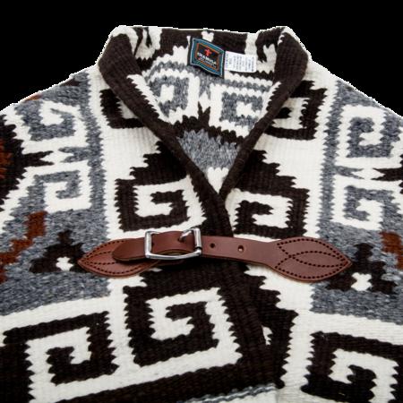 Unisex Chamula Merino Wool Blanket Poncho - Greca Antigua
