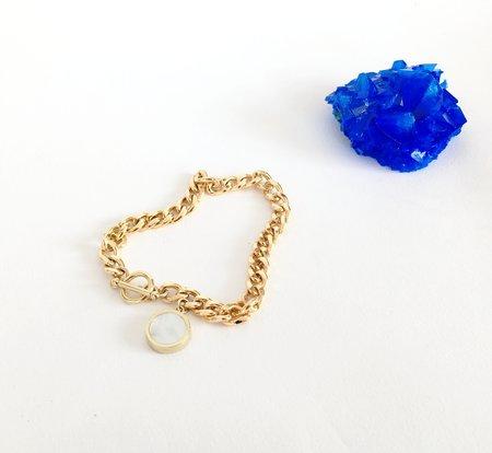 Legier Mother of Pearl  Round Signet Pendant & Bracelet
