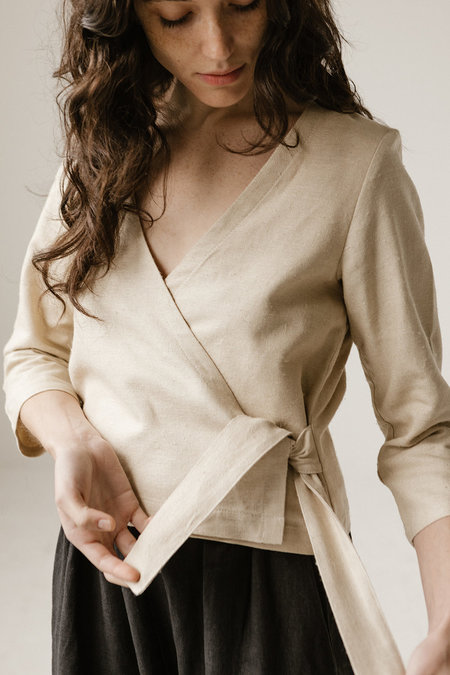 Open Air Museum Wrap Top - Sand