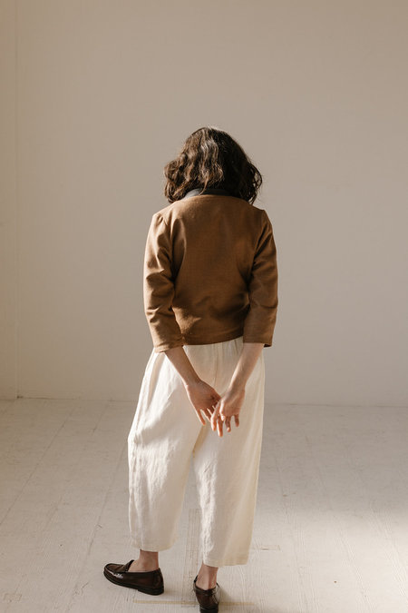 Open Air Museum Wrap Top - Clay