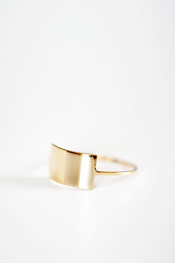 Kristen Elspeth Gold Shield Ring