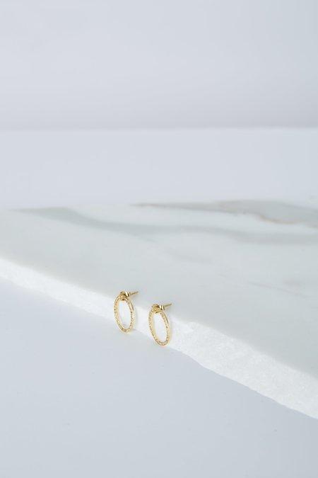 5 Octobre Small Brad Earrings - Gold Vermeil