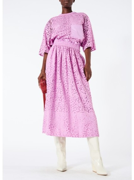Tibi Floral Lace Tunic - Pink Lilac