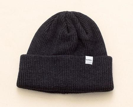 Druther's Druthers Recycled Cotton Knit Beanie - Charcoal