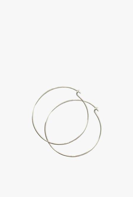 Tarin Thomas Janey Large Hoop Earrings - Sterling Silver