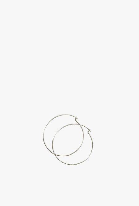 Tarin Thomas Janey Small Hoop Earrings - Sterling Silver