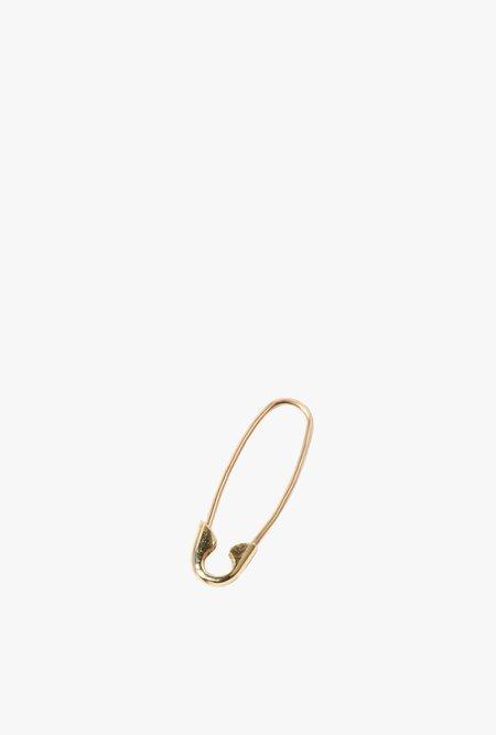 Loren Stewart Single Mini Safety Pin Earring - 14k Gold
