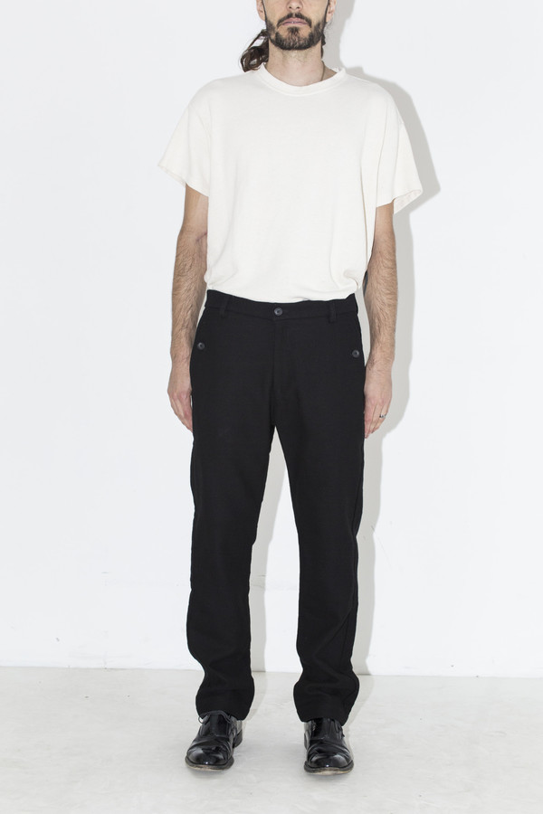 Men's Neuba Black Twill Trouser