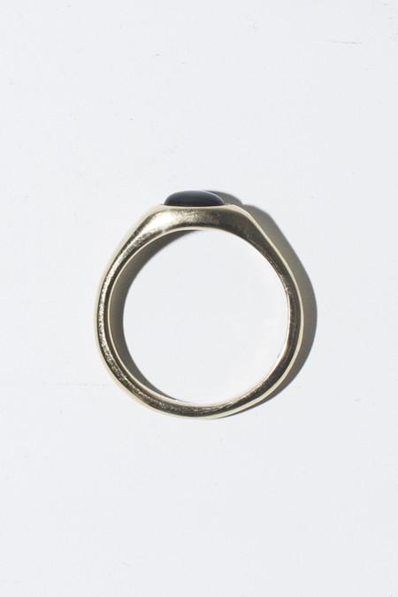 Nikolai Rose Onyx Round Set Ring