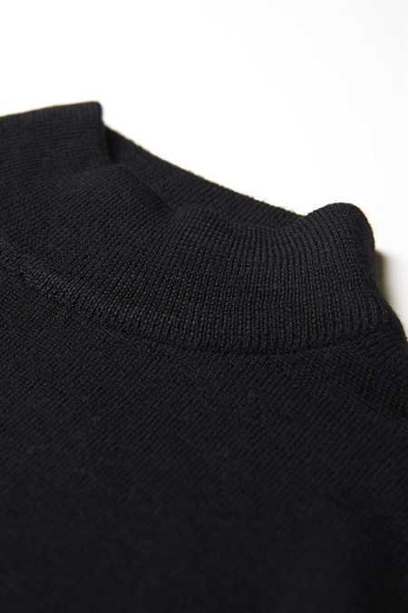 HUNTING ENSEMBLE MERINO MOCK NECK - BLACK