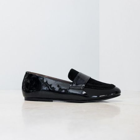 NewbarK Claude Patent Leather Loafers - black