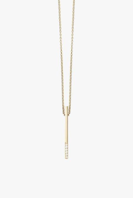Selin Kent Ella Necklace - 14k Gold/White Diamond