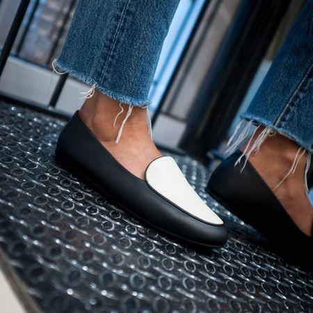 NewbarK Liza Two-tone Loafers - black/white