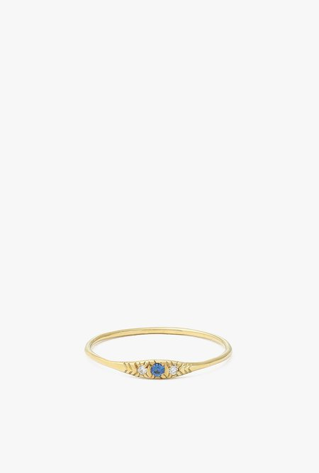 Ochre Objects Pave Sapphire Ovate I Ring