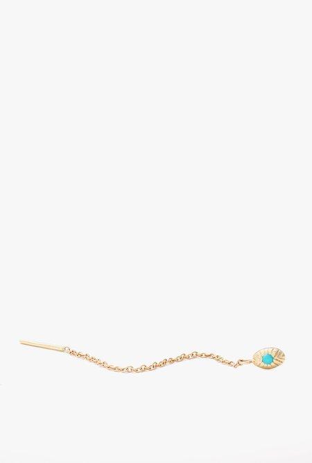 Ochre Objects Single Seedling Turquoise Threader - 14k Gold/Turquoise