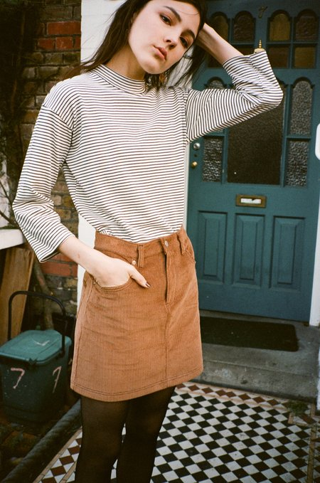 SIDE PARTY mimi corduroy mini skirt - Carmel