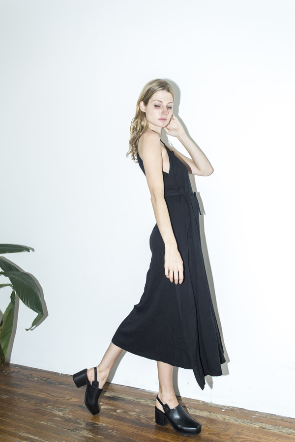 Shaina Mote Ink Wrap Side Apron Dress