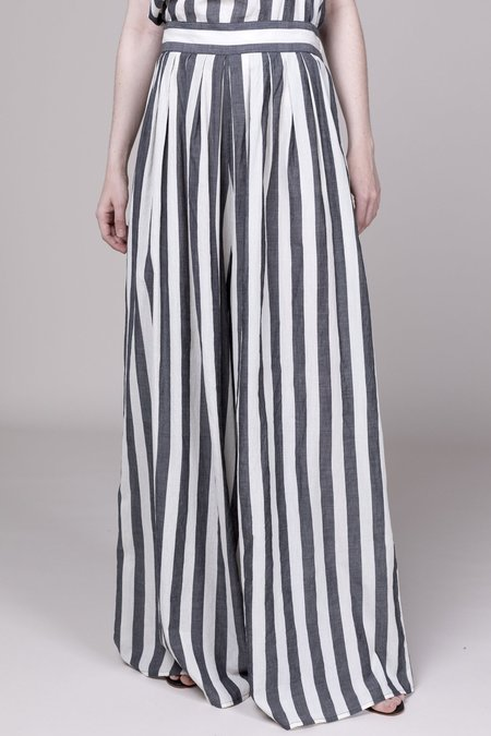 Anaak Annex Pant - Grey/White Stripe