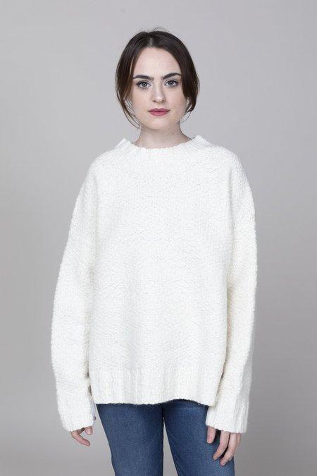 Lauren Manoogian Rustic Wide Crewneck Sweater - Ivory
