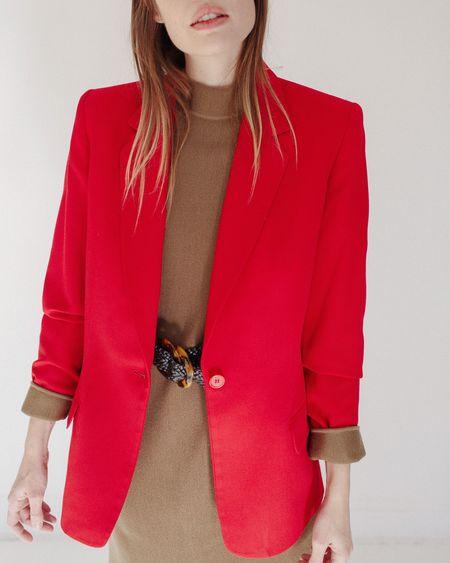 Kaleidos Vintage Cherry Classic Pendleton Blazer - Red