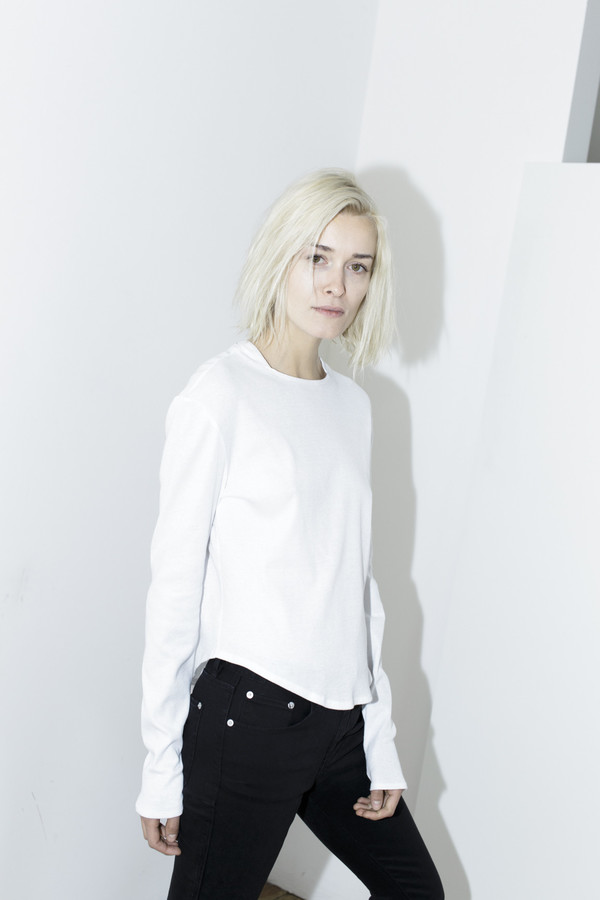 Assembly White Long-Sleeve Top