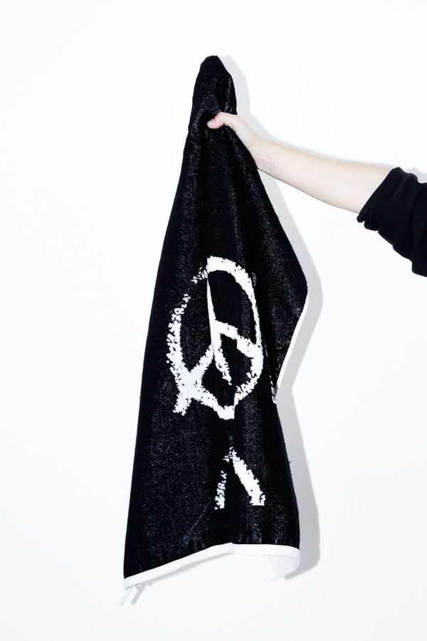 White Scarlet Terry Towel