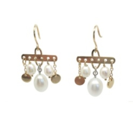 Becca Jewellery Peggy 4 Earrings - Gold/Silver