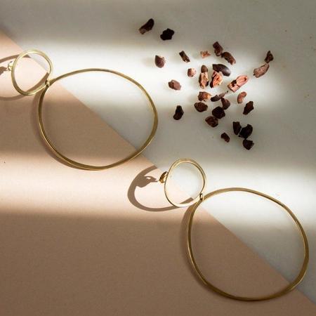 Laura Estrada Vela Major Hoop Earrings - Brass