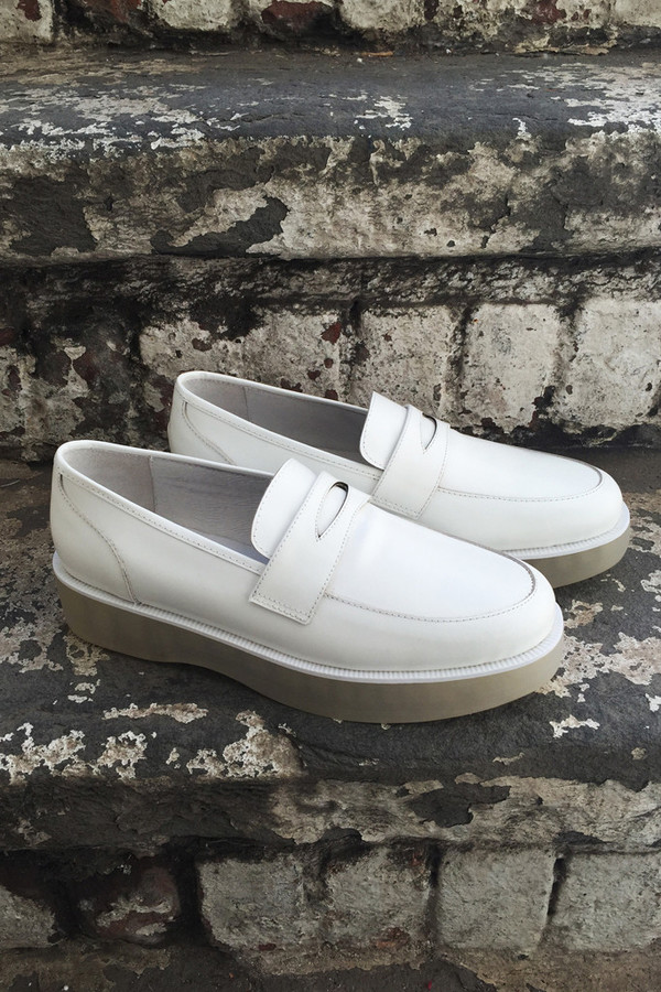 F-Troupe White Wedge Loafer