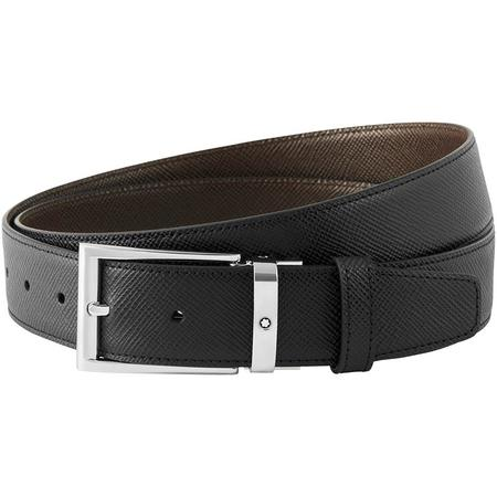Montblanc Reversible Cut-To-Size Business Belt - Black/Dark Brown