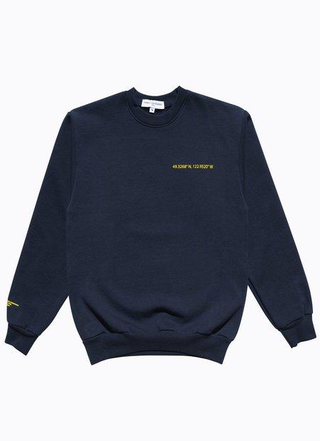 Noble Gentlemen Brand Lion Crest Crew Sweater - Navy/Yellow